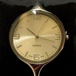 Avon Stylish Cuff Watch Silver